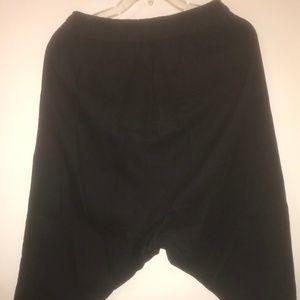 Oak NYC Pants - Oak NYC Drop Crotch Panel Pant Black M